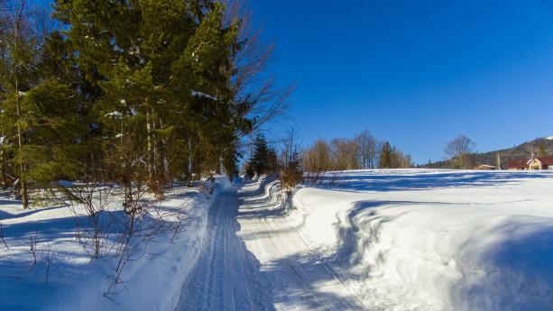 Ruszamy na szlak w prawdziwie zimowej atmosferze.