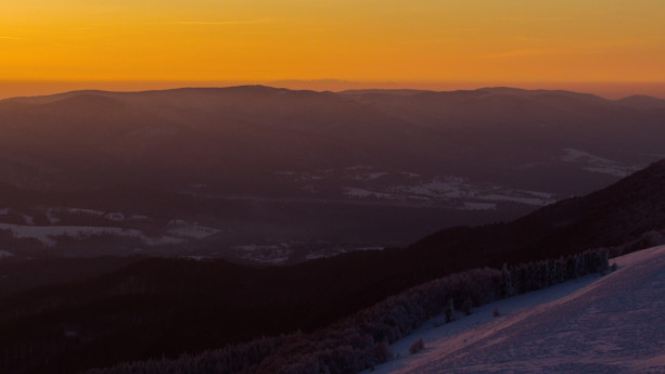 Tatry widziane z Połoniny Wetlińskiej