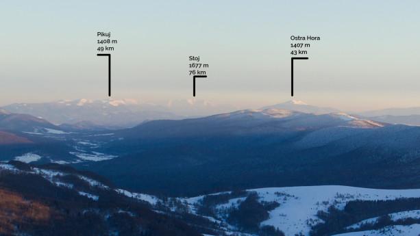Ukraińskie szczyty z Połoniny Wetlińskiej