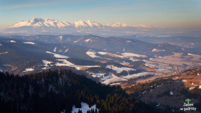 Widok na Tatry z Wysokiej