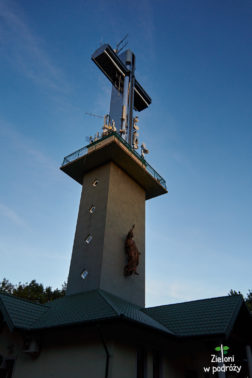 A tak wygląda wieża widokowa na Liwoczu. Solidna konstrukcja chociaż schodki wewnątrz zdają się ciągnąć w nieskończoność.