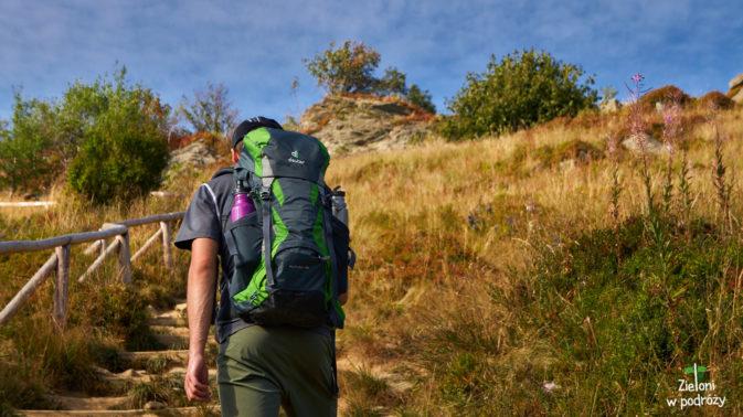 Koniec sierpnia obfitował w gorące dni i pomimo wyjścia na szlak po 15 nie było ani trochę chłodniej.