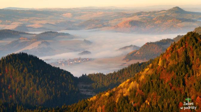 Mgły snujące się w dolinach