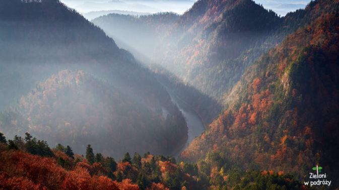 Przełom Dunajca jesienią - naprawdę urokliwy widok