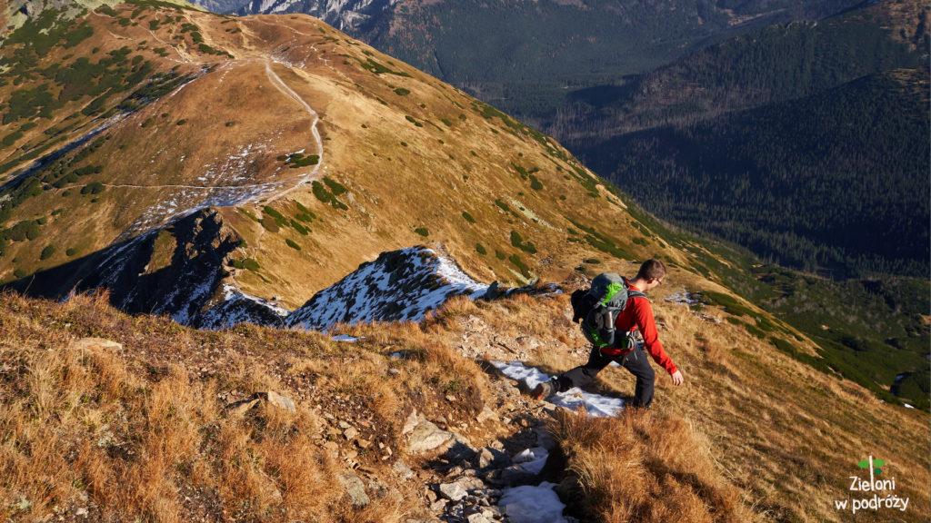 Uważnie i powoli w stronę Siwej Przełęczy.