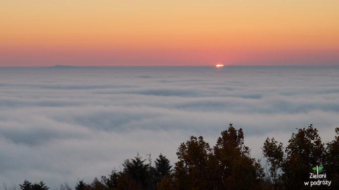 Wschód słońca z Liwocza