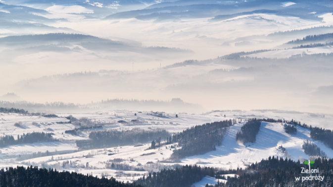 Mgły utrzymywały się w dolinach przez naprawdę długi czas.