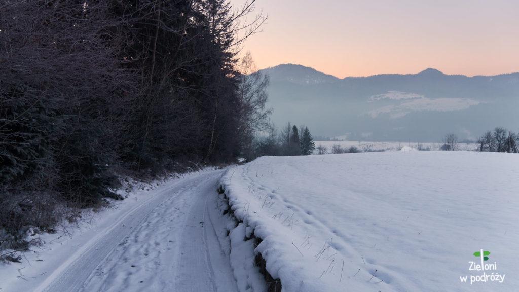 Pierwsze oznaki zimy na szlaku.