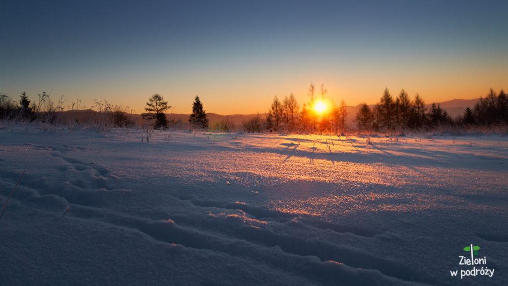 Poranek na szlaku w Gorcach