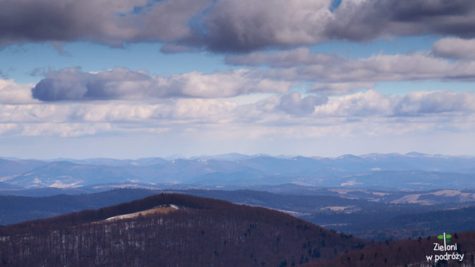 Góry i pagórki aż po horyzont