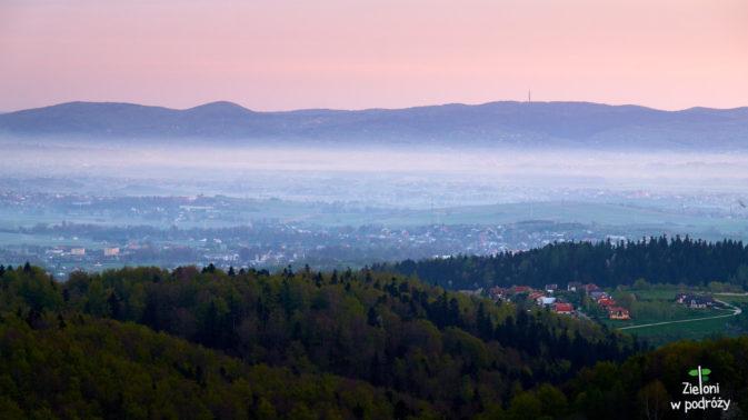 Poranne mgły w Beskidzie Niskim