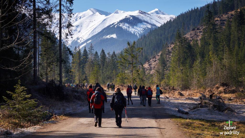 Ruszamy na szlak, razem z całą grupą turystów