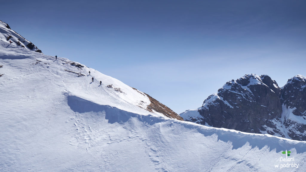 Szlak wyprowadzający na szczyt Wołowca