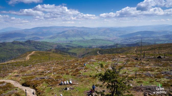 Barania Góra i widok z wieży widokowej