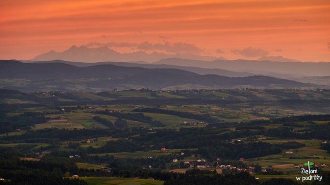 Tatry z Liwocza po zachodzie słońca