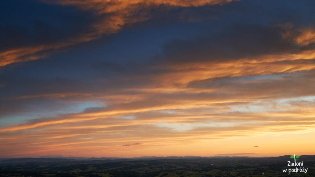 Zachód słońca z Liwocza