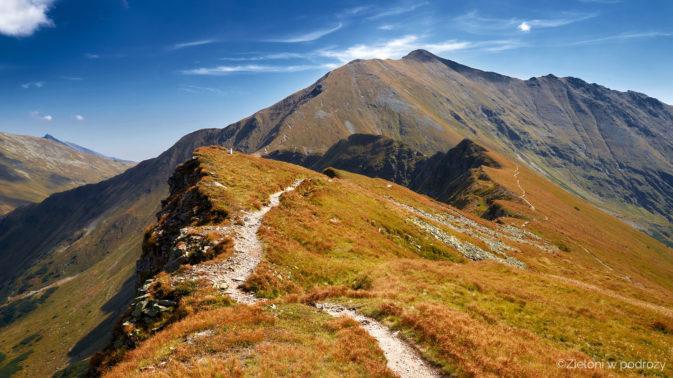 Bystra - najwyższa góra Tatr Zachodnich i szlak na nią prowadzący