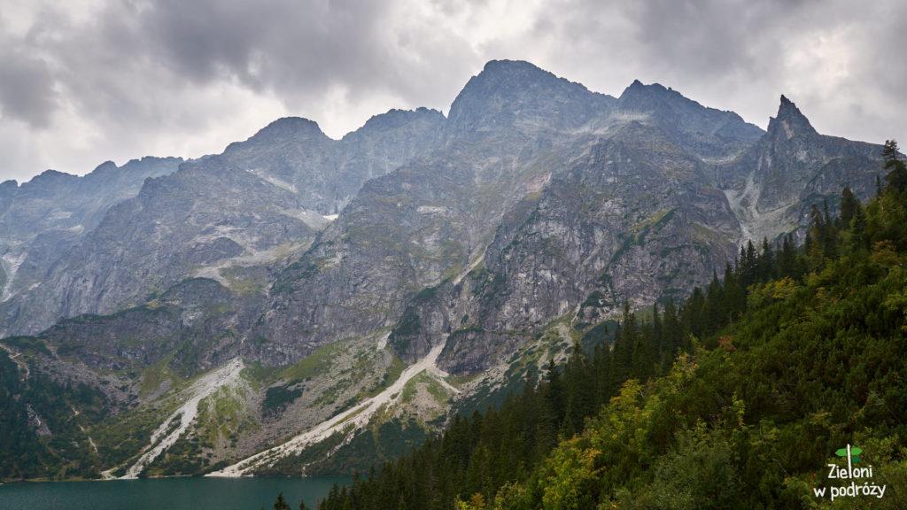 Mięguszowieckie Szczyty i Mnich po prawej