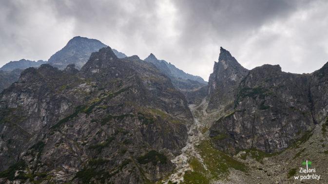 Widok na Mnicha ze szlaku