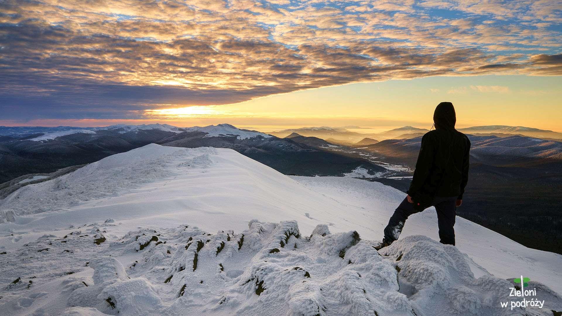 Bieszczady witają zimę – Połonina Caryńska i Wielka Rawka