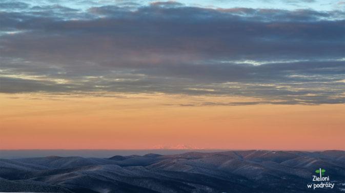 Wisienka na torcie tamtego dnia. Tatry widziane z odległości około 180 km