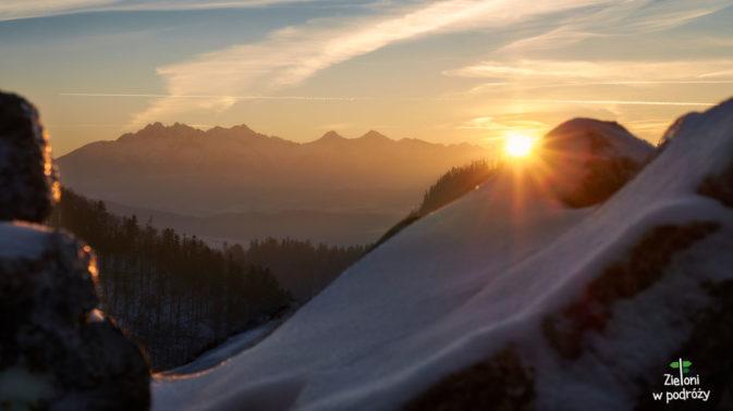 Tatry w zachodzącym słońcu
