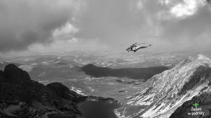 Wreszcie w Tatrach Wysokich. Niestety śmigłowiec TOPR często podrywał się do lotu