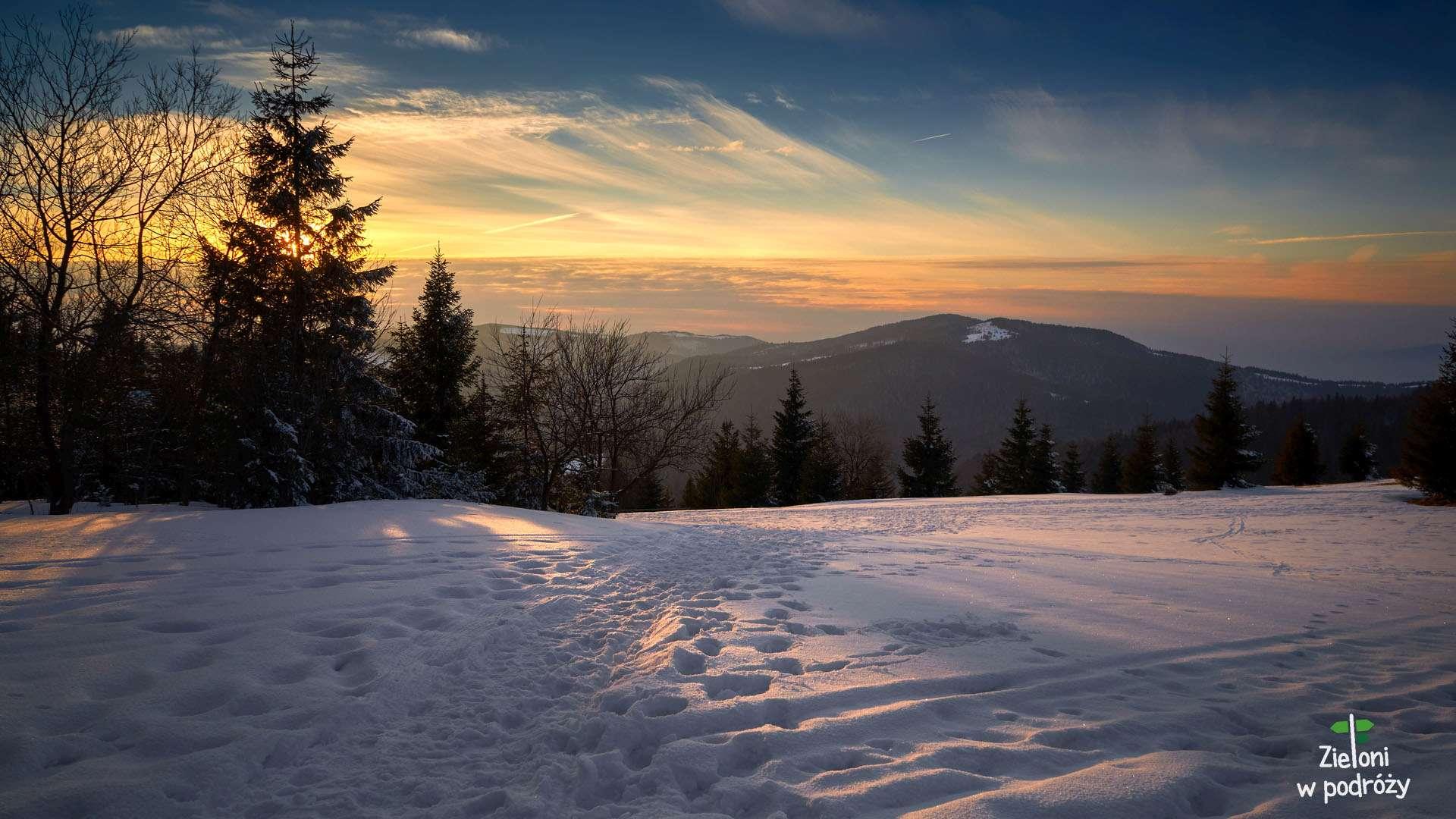 Gorc zimą – leniwe popołudnie na szlaku