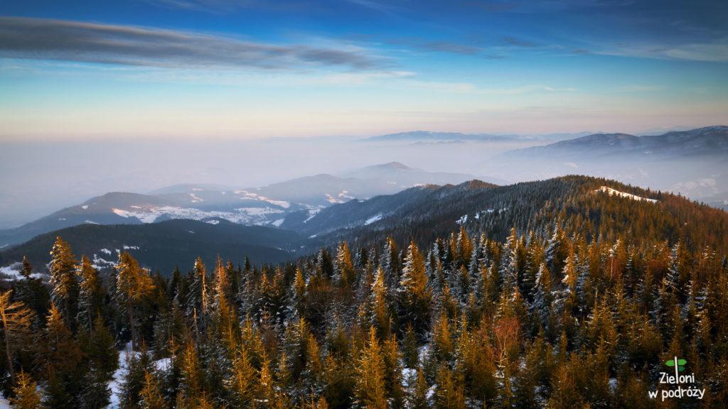Panorama z Gorca późnym popołudniem