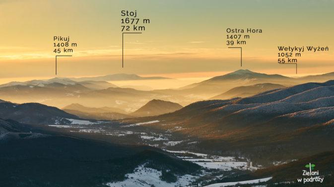 Wspaniała przejrzystość pozwalała dostrzec szczegóły oddalonych szczytów