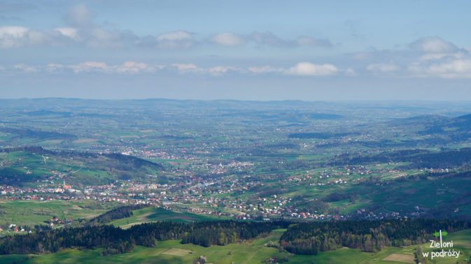 Panoramy ze szczytu i rzut oka na Grybów