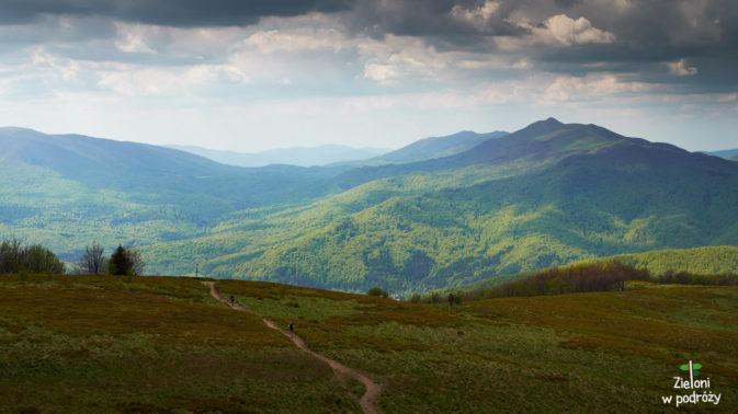 Z tej perspektywy, Połonina Caryńska naprawdę wygląda na kawał góry
