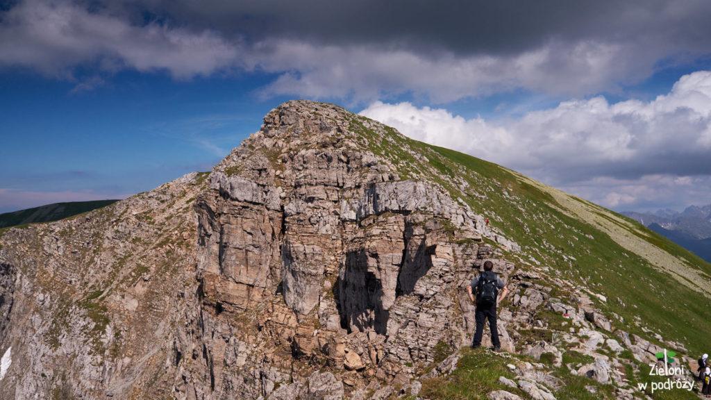 Ściana Krzesanicy, no i Darek.