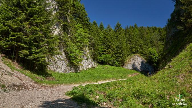 Ciekawe formacje skalne umilają marsz