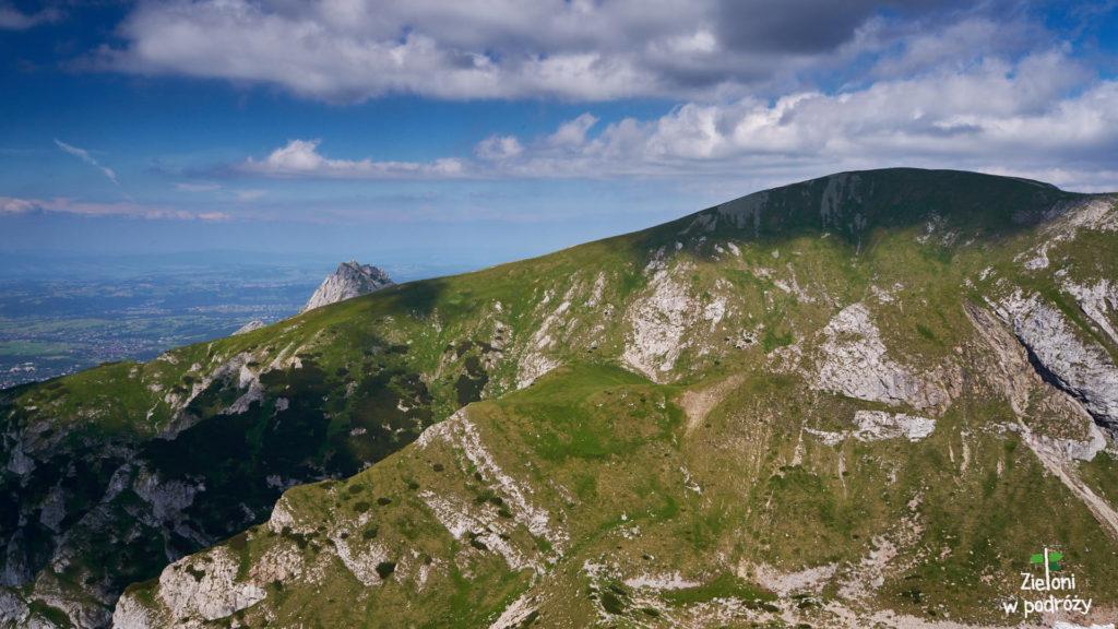 Czerwony Grzbiet, opadający ze szczytu Małołączniaka. Po lewej widać ścieżkę prowadzącą z Kobylarzowego Żlebu