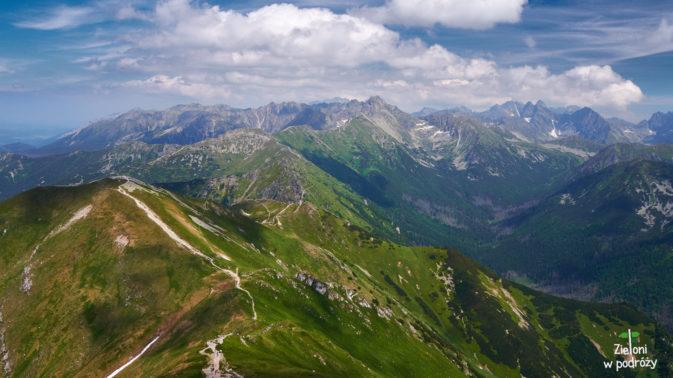 Małołączniak i panorama ze szczytu
