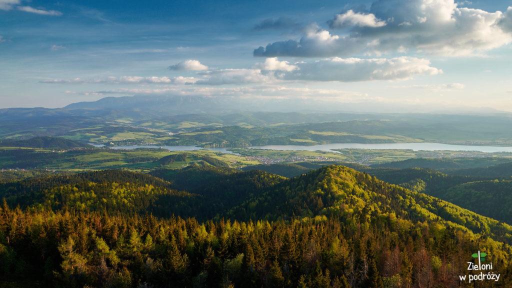 Widok na Tatry z Lubania jest naprawdę świetny. Widać całe pasmo
