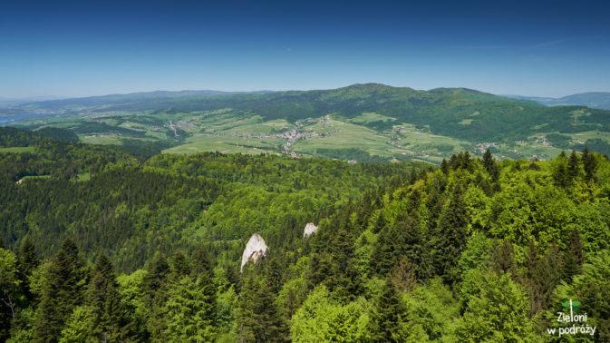 Widok w stronę Lubania ze szczytu