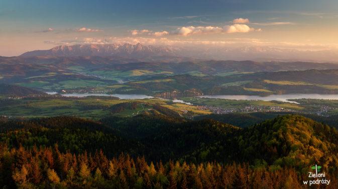 Widoki z wieży na Lubaniu potrafią wprawić w zachwyt. Tatry grały główną rolę