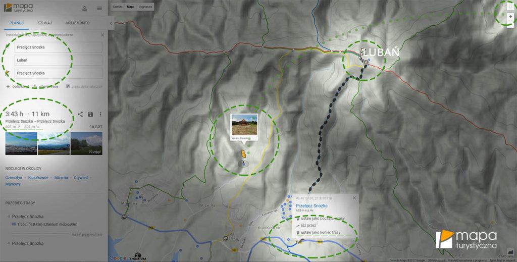 Planowanie trasy na Lubań