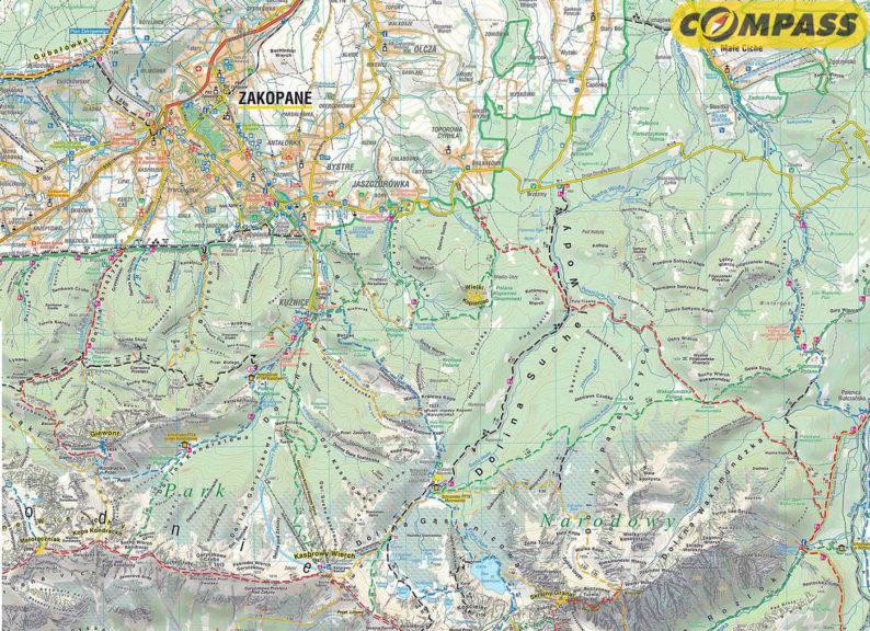 Szlaki na tradycyjnej mapie Compassu