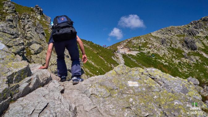 Ostatnia przeszkoda w drodze z Doliny Pięciu Stawów na Przełęcz Krzyżne
