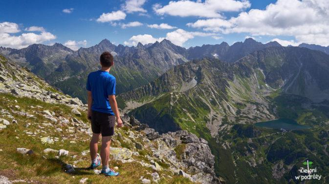 Panorama z Przełęczy Krzyżne.