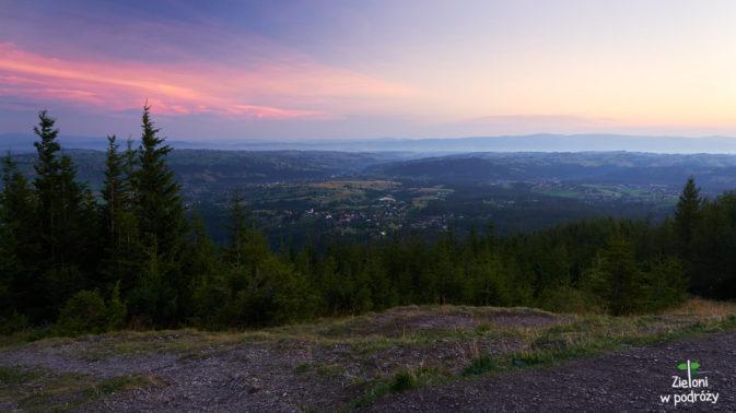 Panorama ze szczytu w kierunku północnym