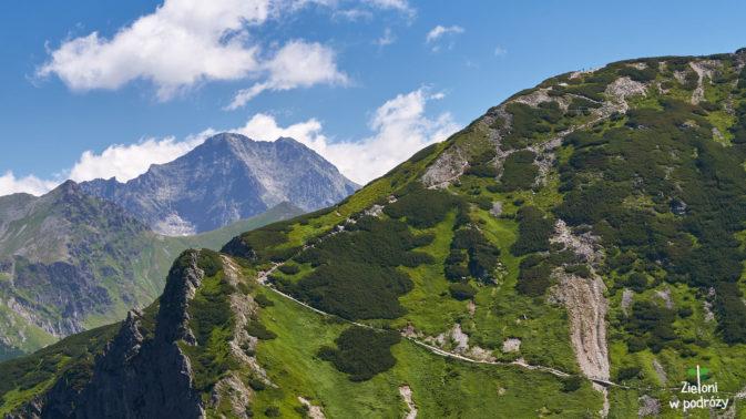 Szybko pokazuje się Lodowy Szczyt - kawał góry