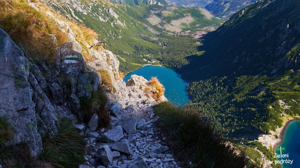 Najsłynniejsze miejsce w drodze na Mięguszowiecką Przełęcz pod Chłopkiem