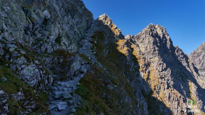 Podejście na Mięguszowiecką Przełęcz pod Chłopkiem
