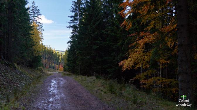 Krótki odcinek po tej płaskiej drodze