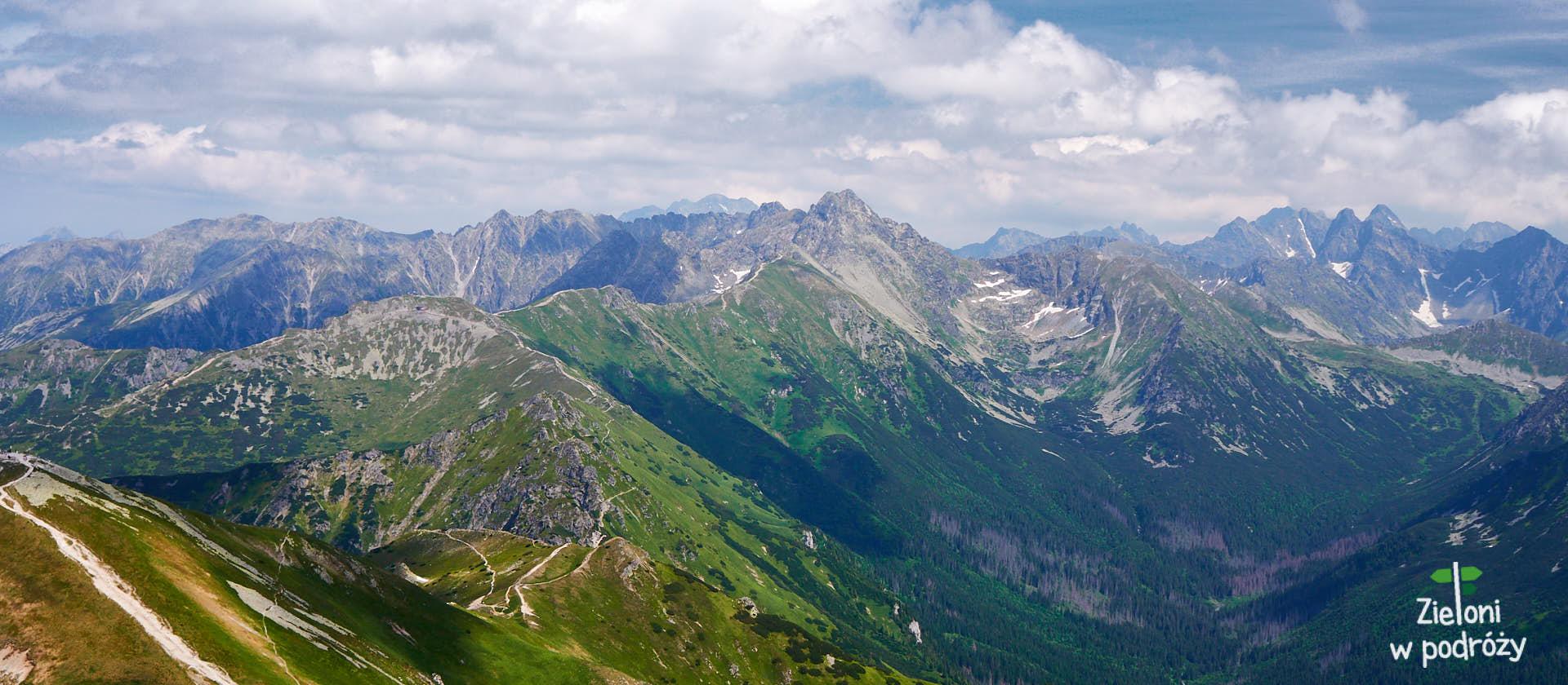Podpisana panorama z Małołączniaka