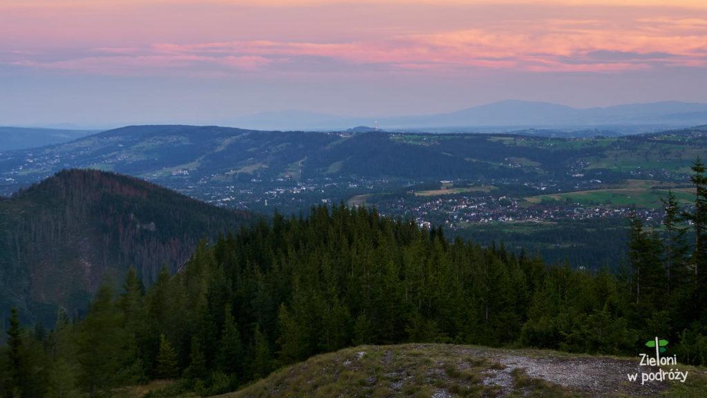 Panorama w stronę Gubałówki i Beskidu Żywieckiego